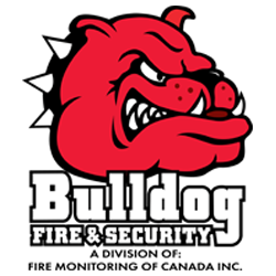 image of bulldog fire and security logo