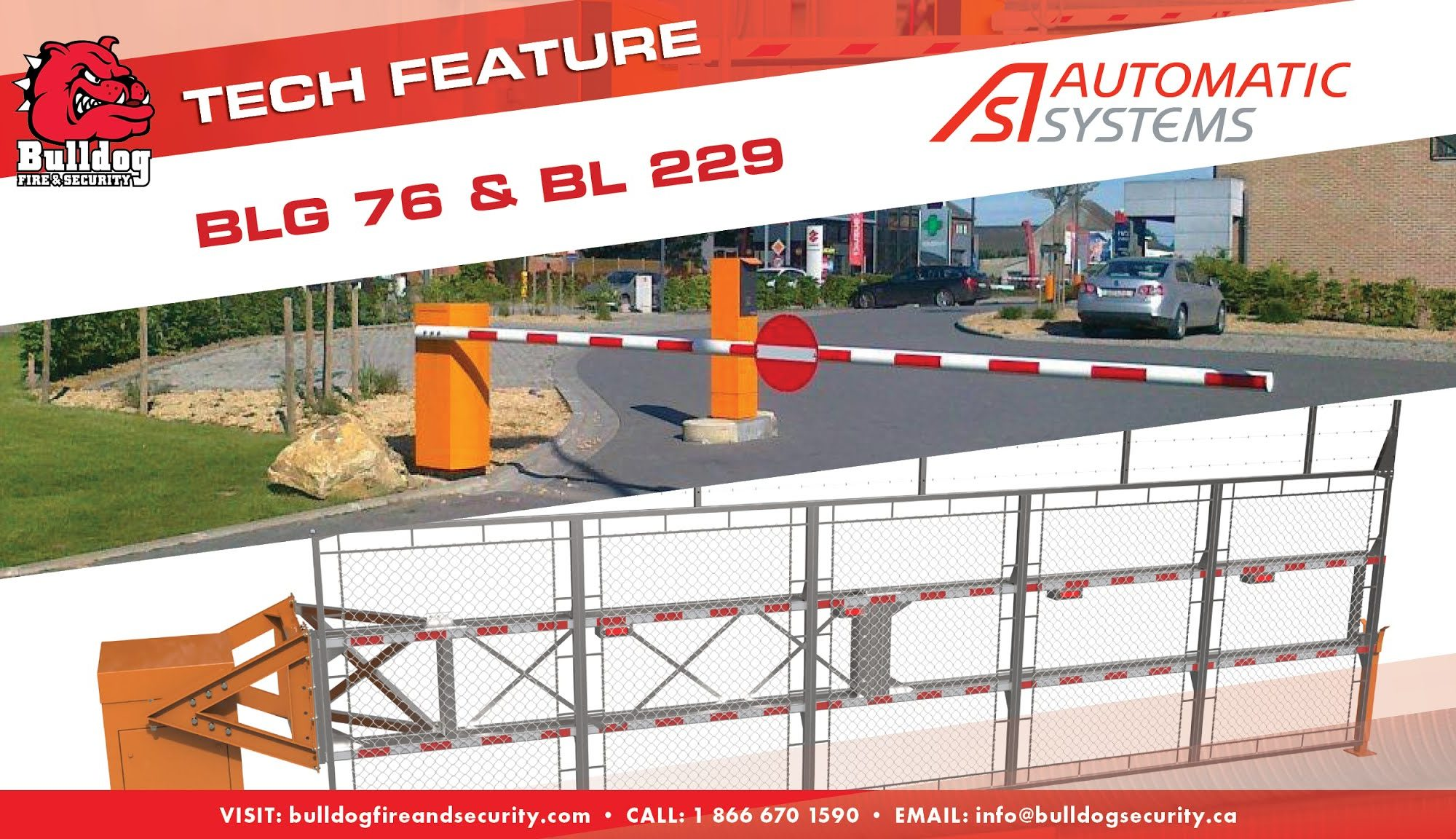 tech feature automatic systems bl 229 and blg 76 security gates