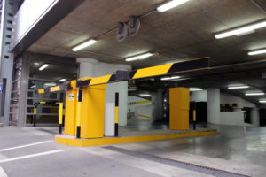 image of parking garage gate