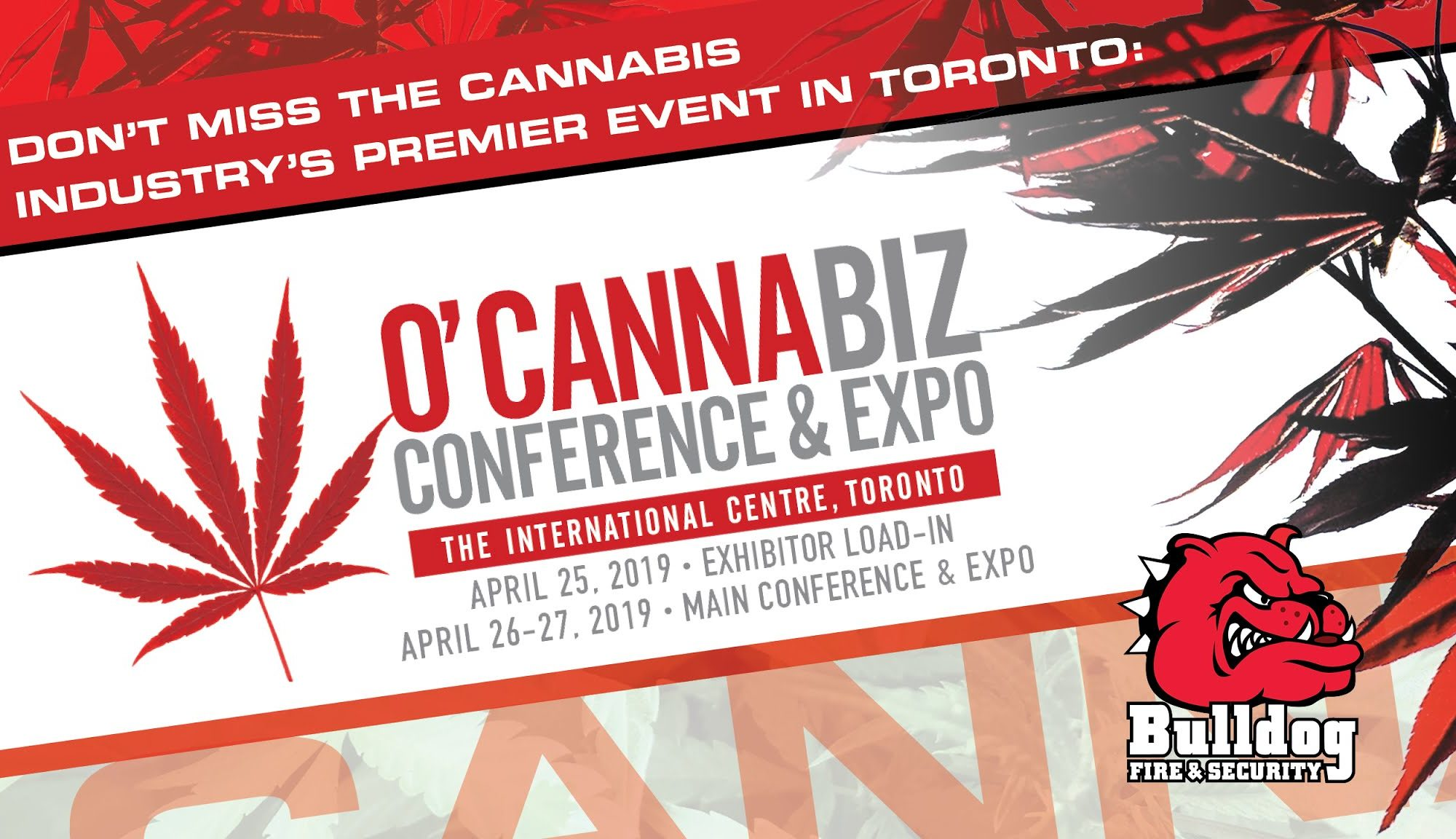 image of ocannabiz conference and expo banner
