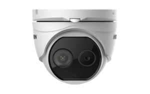 image of Hikvision Thermal-Optical DeepinView Network Turret Camera.