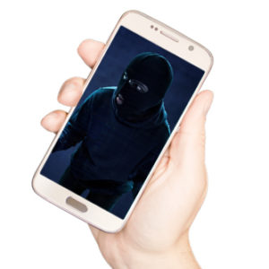 image of burglar on cell phone image